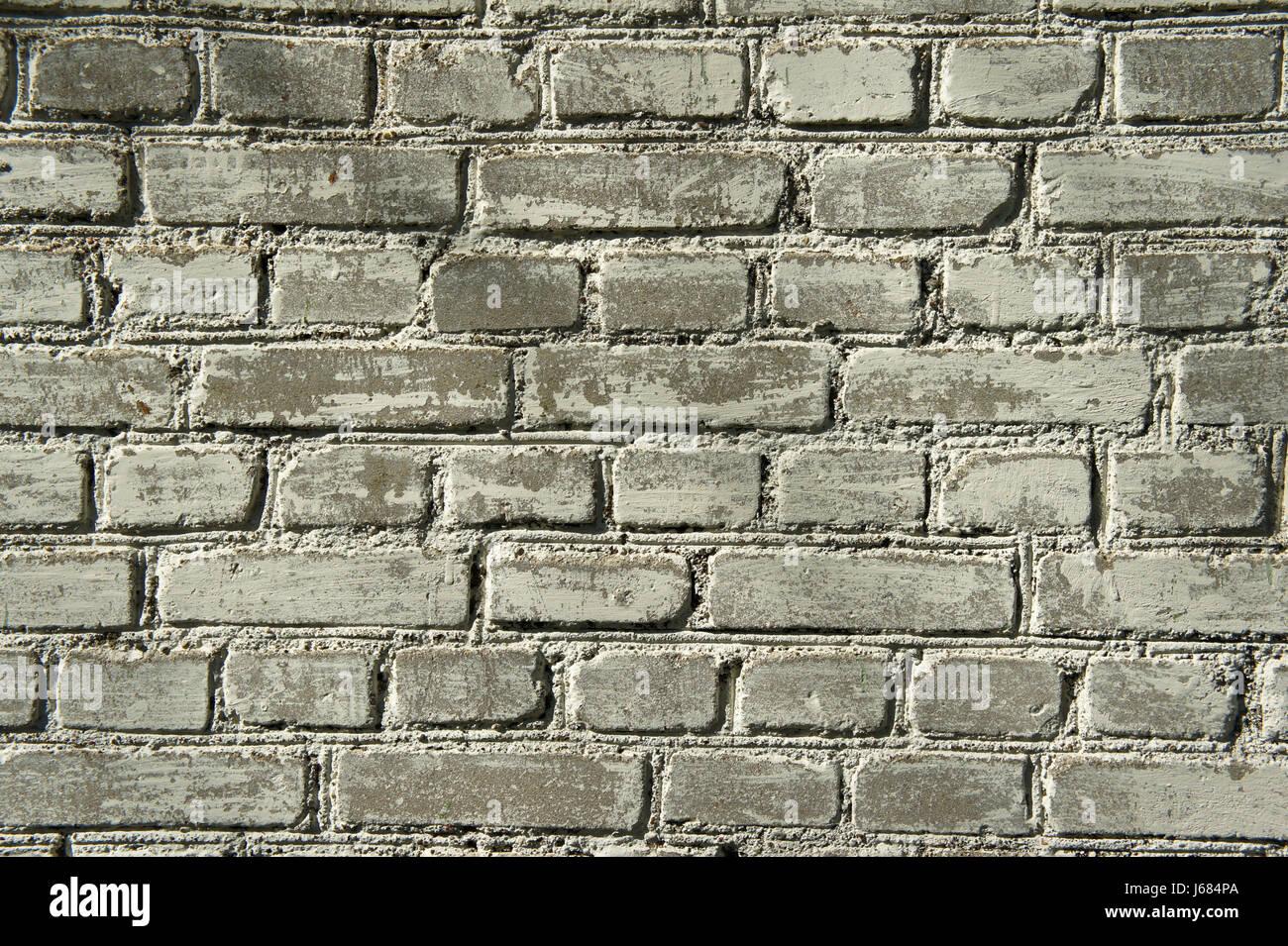 white gray brick wall background, background, grey, classic, brickwork, mosaic, stone, - Stock Image
