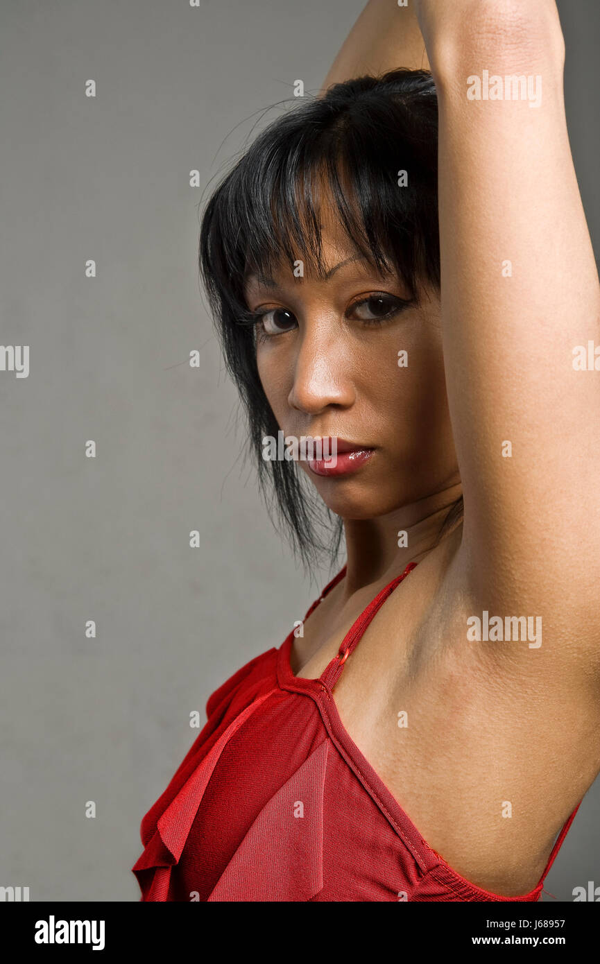 Asian women arm pit hair