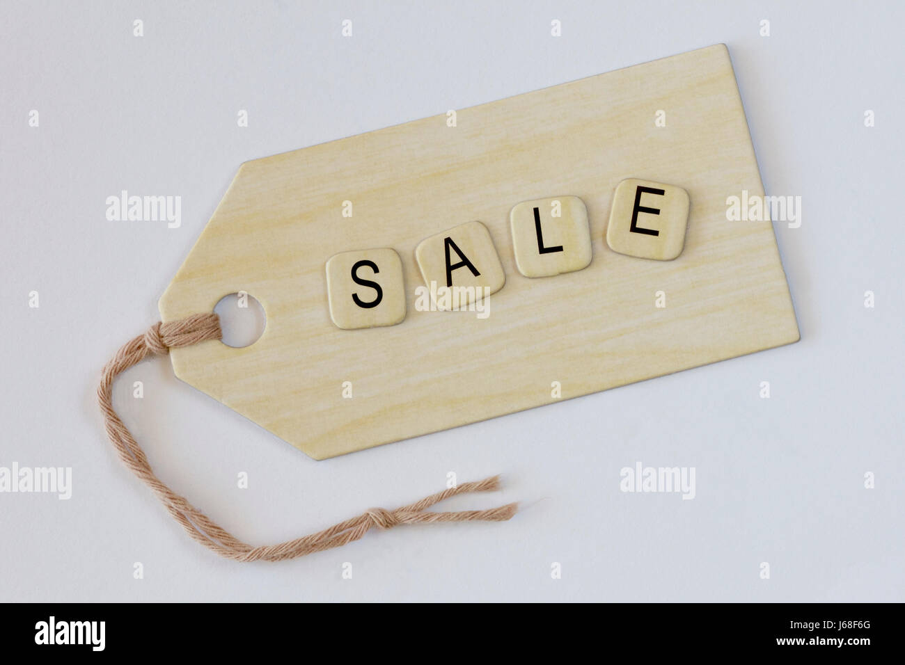 For sale tag in a retail shop. - Stock Image