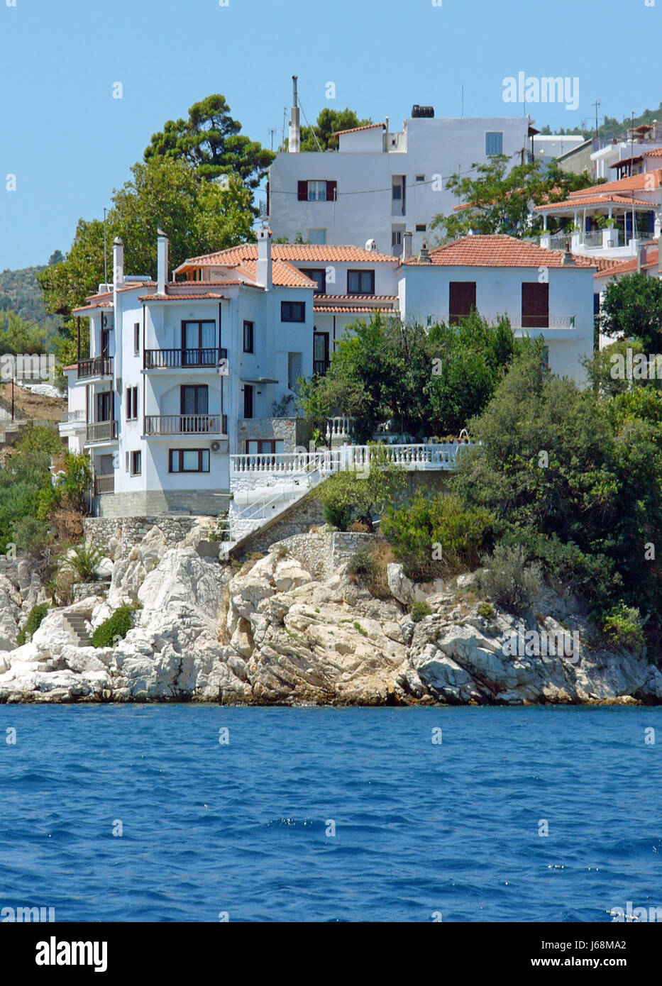 skiathos town - residential - Stock Image