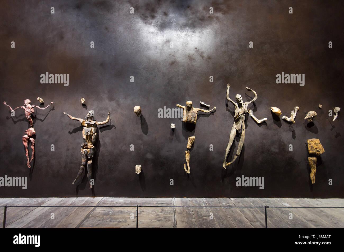 Venice Art Biennale 2017 Italian Pavilion, Roberto Cuoghi, The Imitation of Christ, sculptural installation, Inexhibit - Stock Image