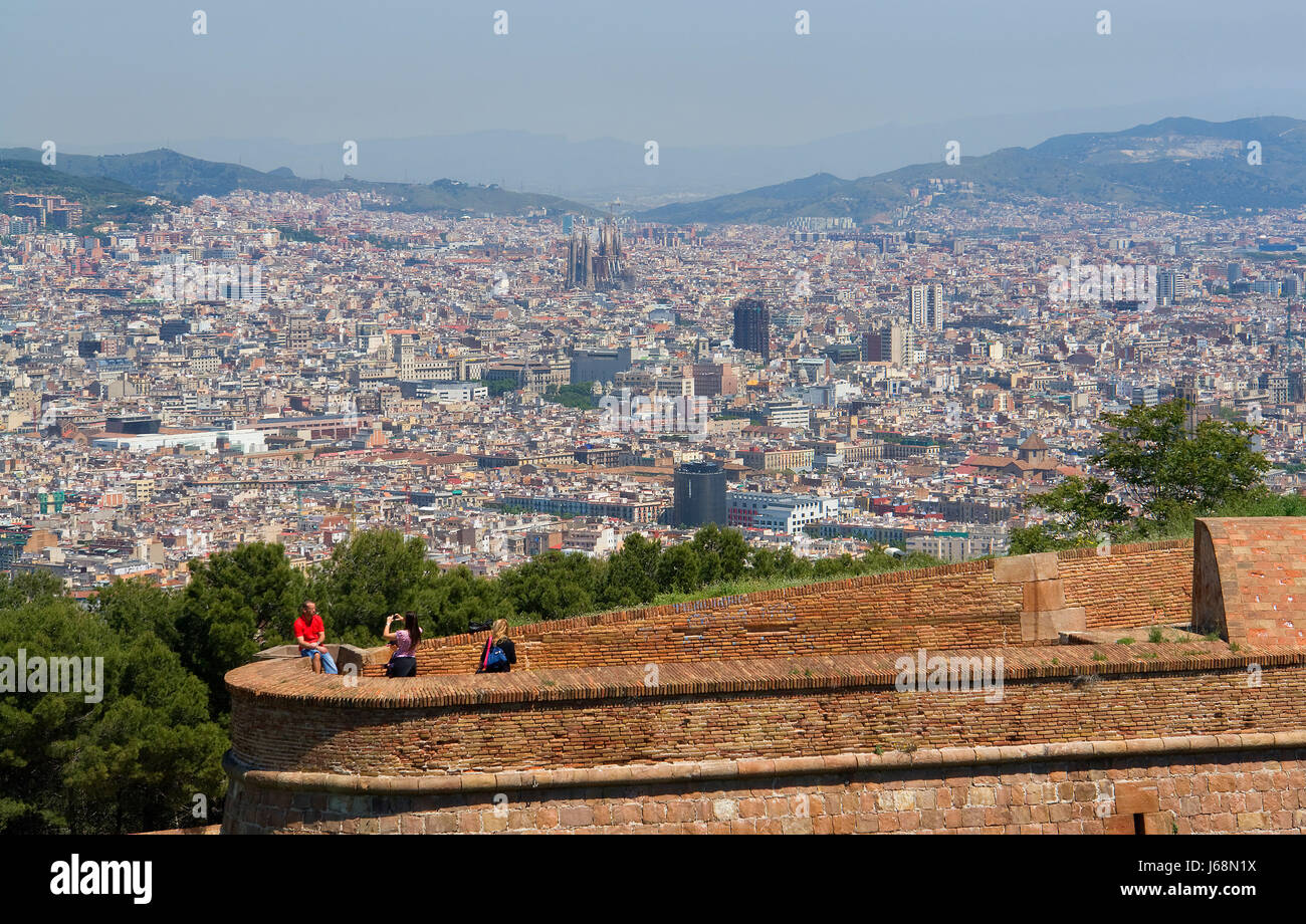view of barcelona - Stock Image