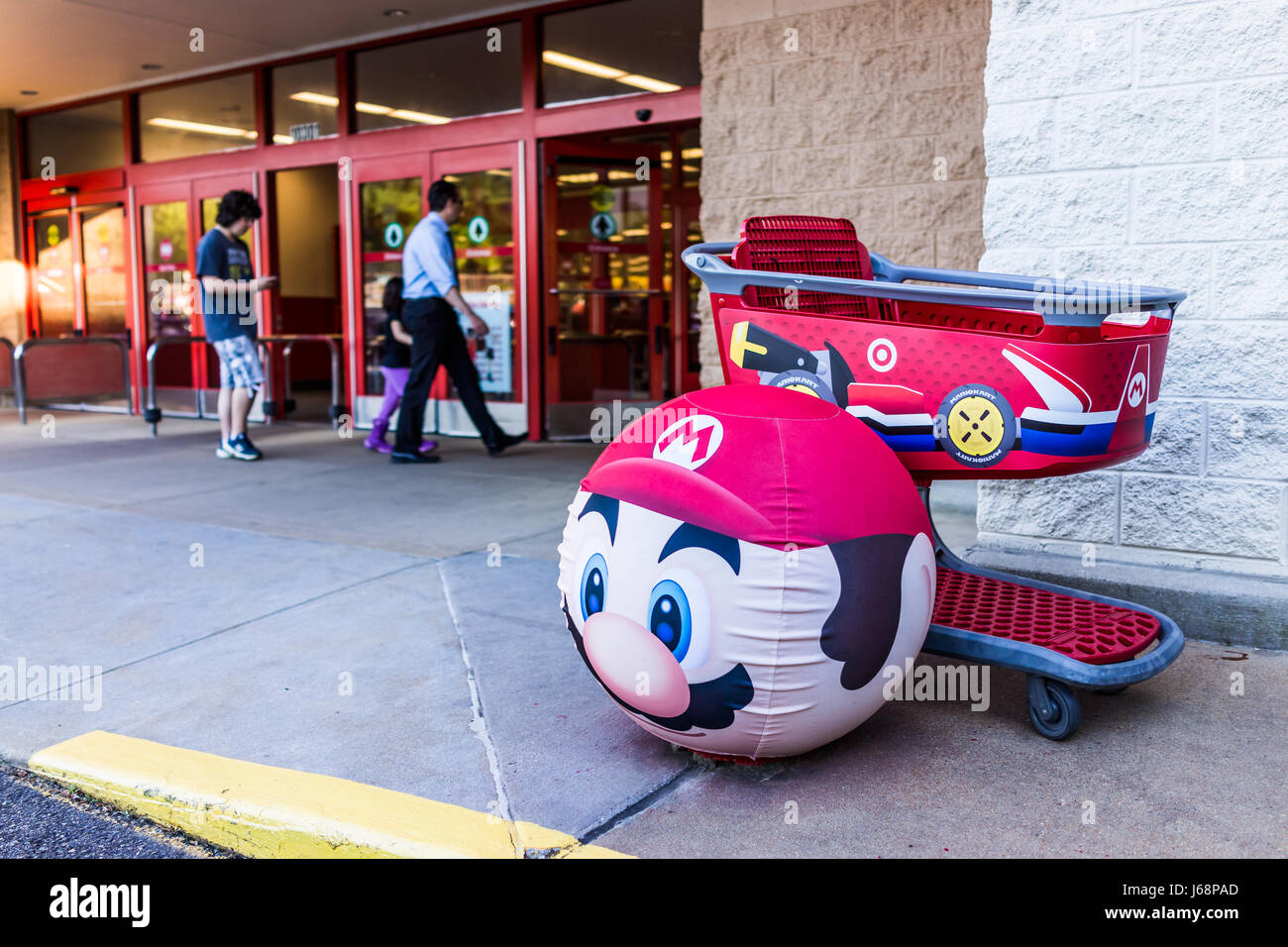 Fairfax, USA - May 9, 2017: Mario face on Target ball with