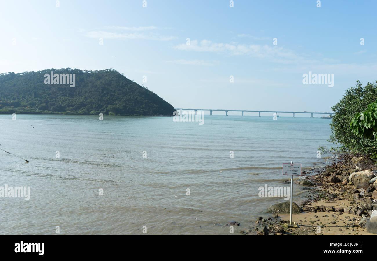 Nice breezy day in Tai O, Lantau Island, Hong Kong - Stock Image