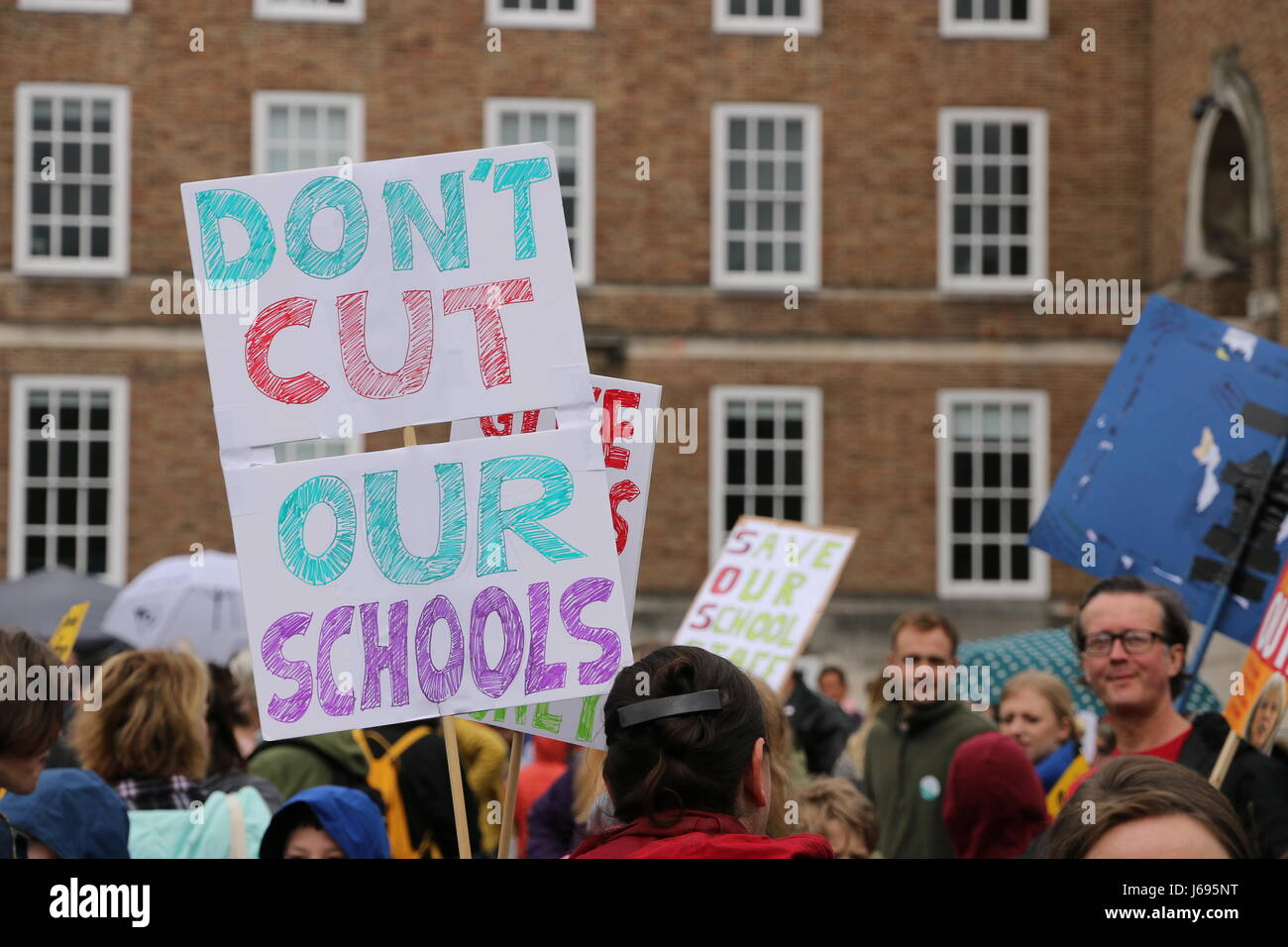 Bristol, UK. 20th May 2017.  Parents, children and school staff rallied in Bristol to protest the Department for Education's - Stock Image