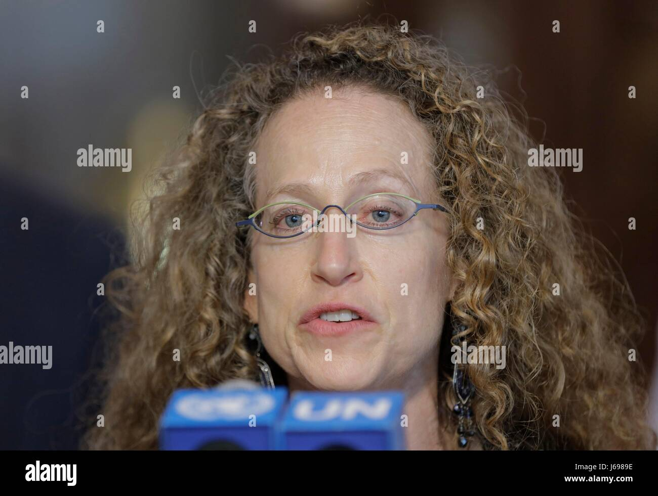 United Nations, New York, USA, May 17 2017 -  Justine Cassell, Associate Dean for Technology Strategy and Impact - Stock Image
