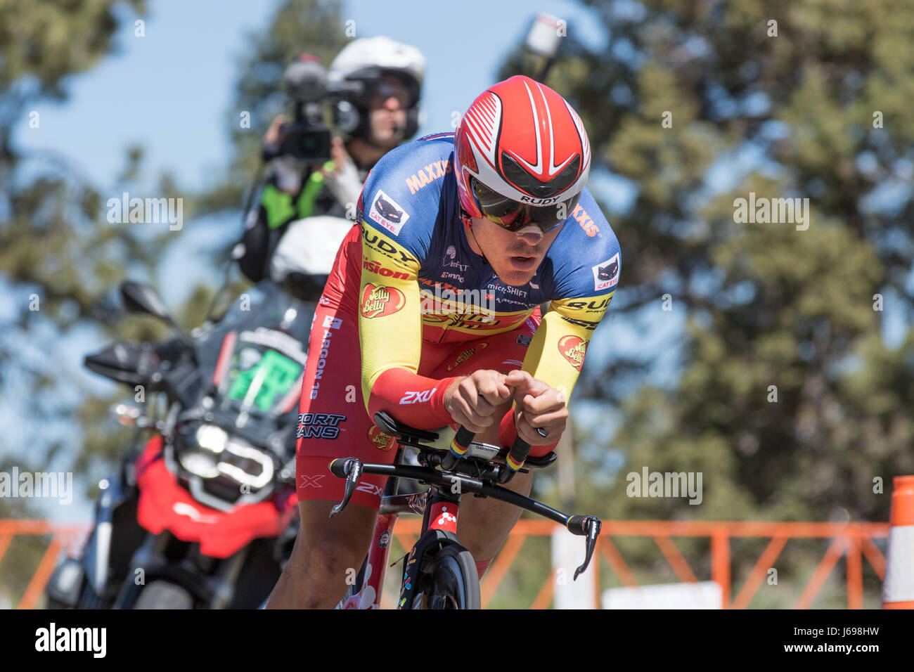 Big Bear, CA, USA. 19th May 2017. Serghei TVETCOV of Team Jelly Belly p/b Maxxis. Tvetcov finished in 20th place. - Stock Image