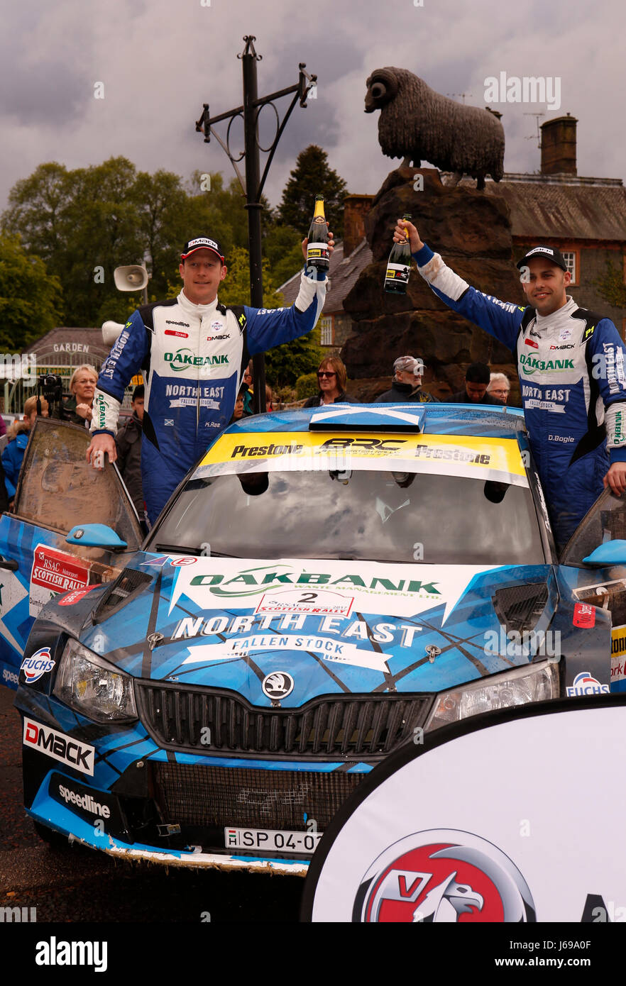 Dumfries and Galloway, UK. 20th May, 2017. Winners of the RSAC Scottish Rally at Moffat, Dumfries and Galloway, - Stock Image