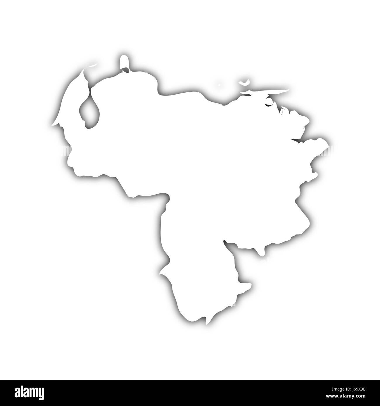 Venezuela Map Black and White Stock Photos & Images - Alamy