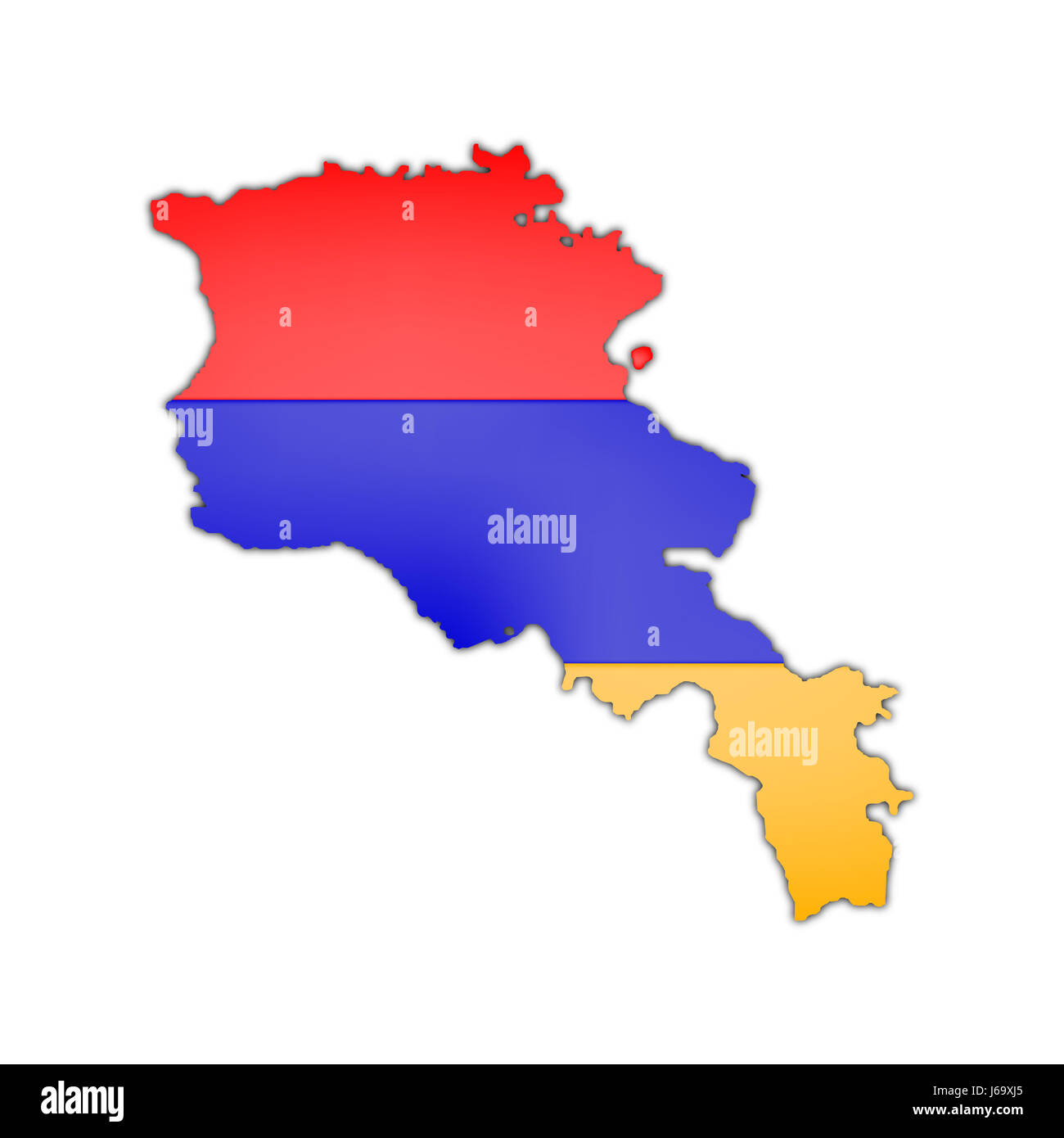 Asia Flag Armenia Map Atlas Map Of The World Blue Asia Illustration