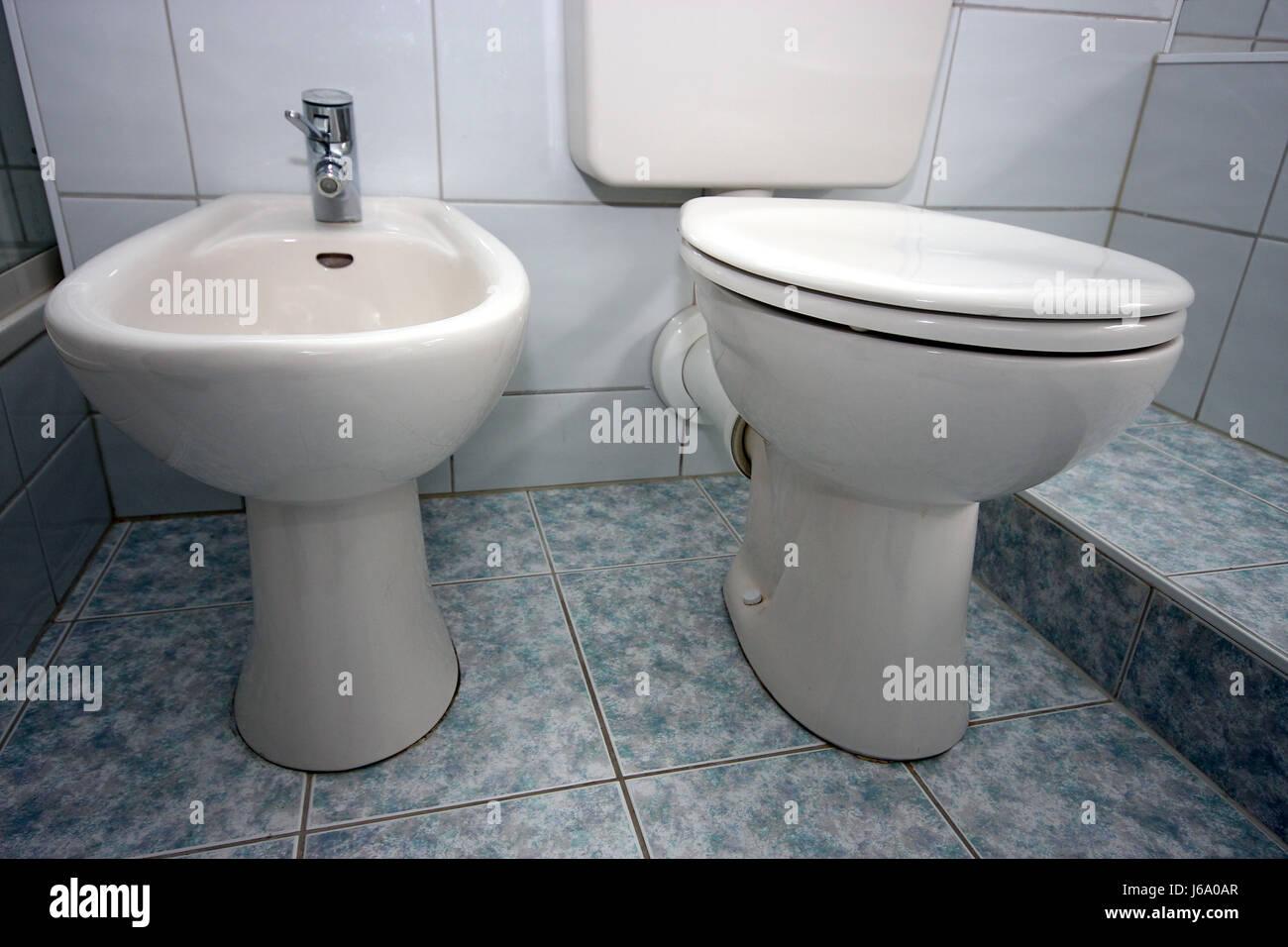 purify toilet personal care bidet bathroom flow purify ceramic tiles toilet Stock Photo
