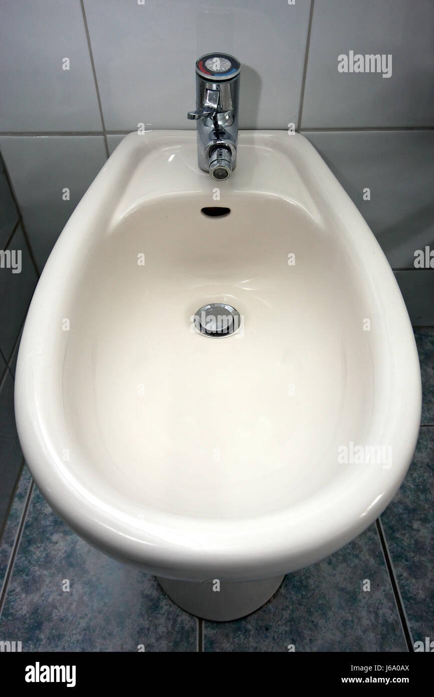 purify hygiene personal care washroom bidet bathroom flow purify ceramic tiles Stock Photo