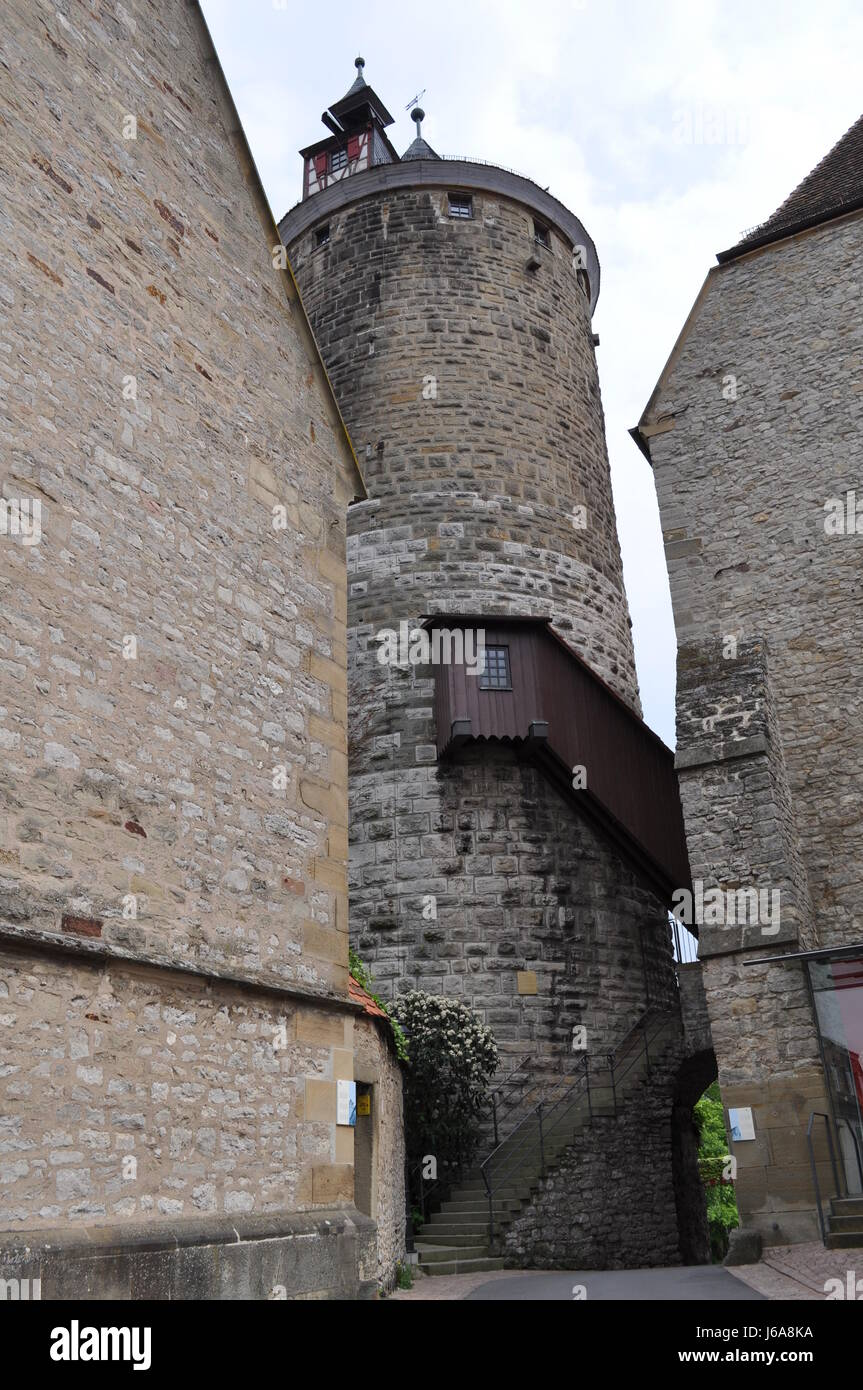 tower chateau castle middle ages tower high pressure area chateau castle - Stock Image