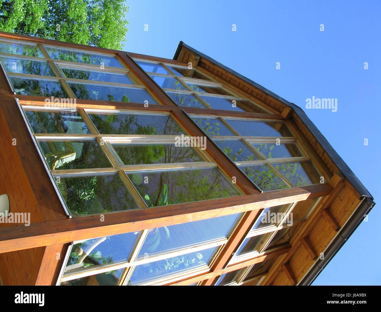 House Building American Modern Modernity Reflection Luxury Stock