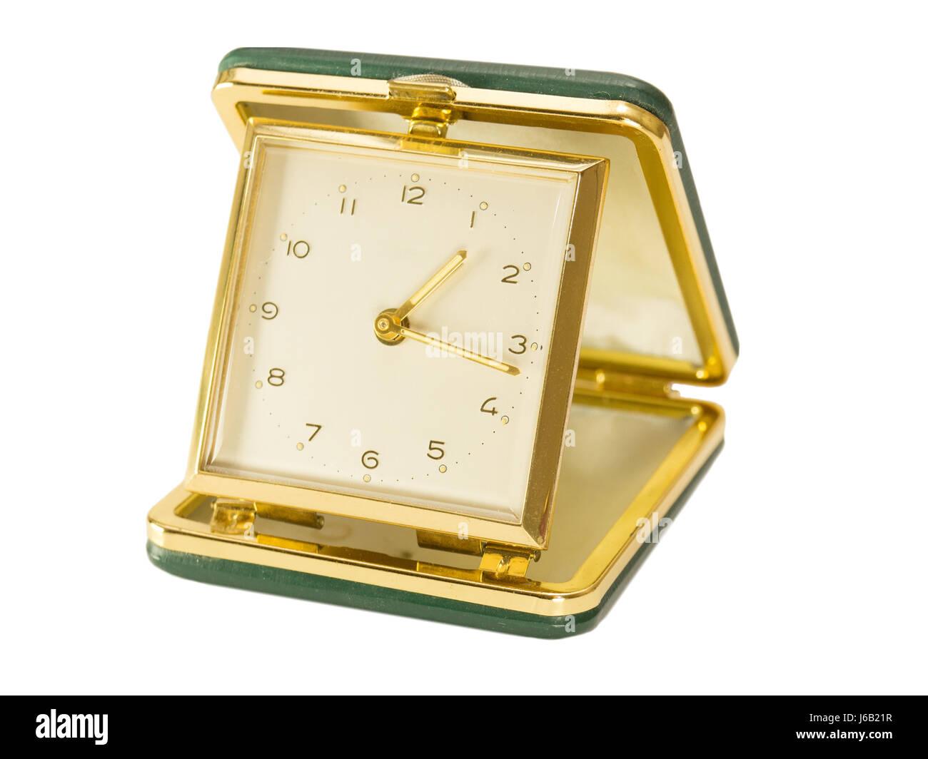Green Wind Up Travel Vintage Alarm Clock Stock Photo 141613971 Alamy
