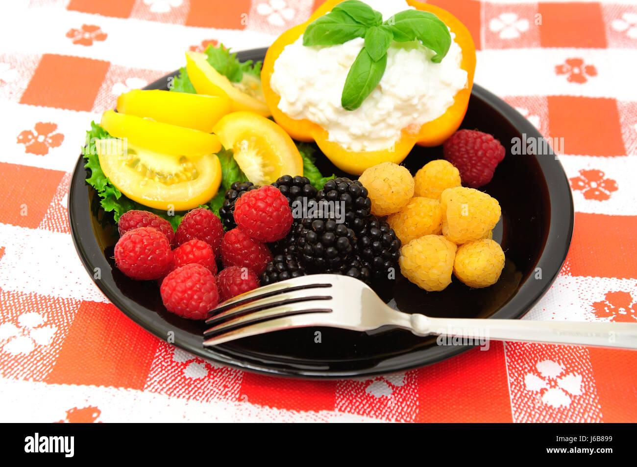 food aliment fruit raspberry berry dessert blackberry food aliment health sweet - Stock Image