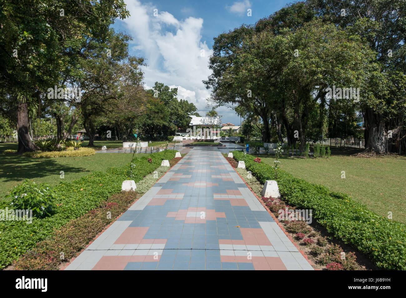 Petagas War Memorial, Kota Kinabalu, Borneo. A memorial to the Malaysian guerrilla movement that fought the Japanese - Stock Image