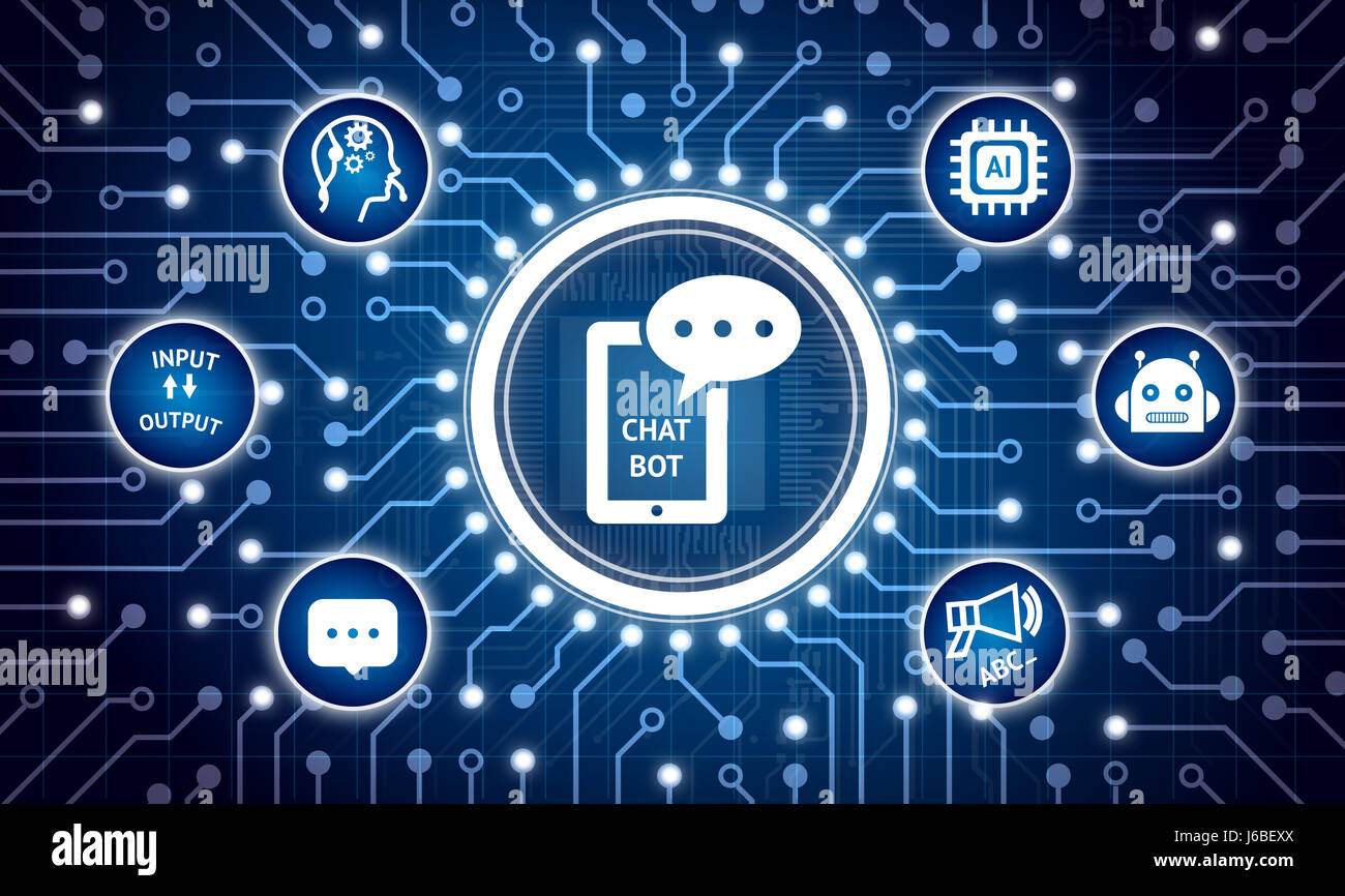 Chat Bot Future Marketing Technology Concept Electric