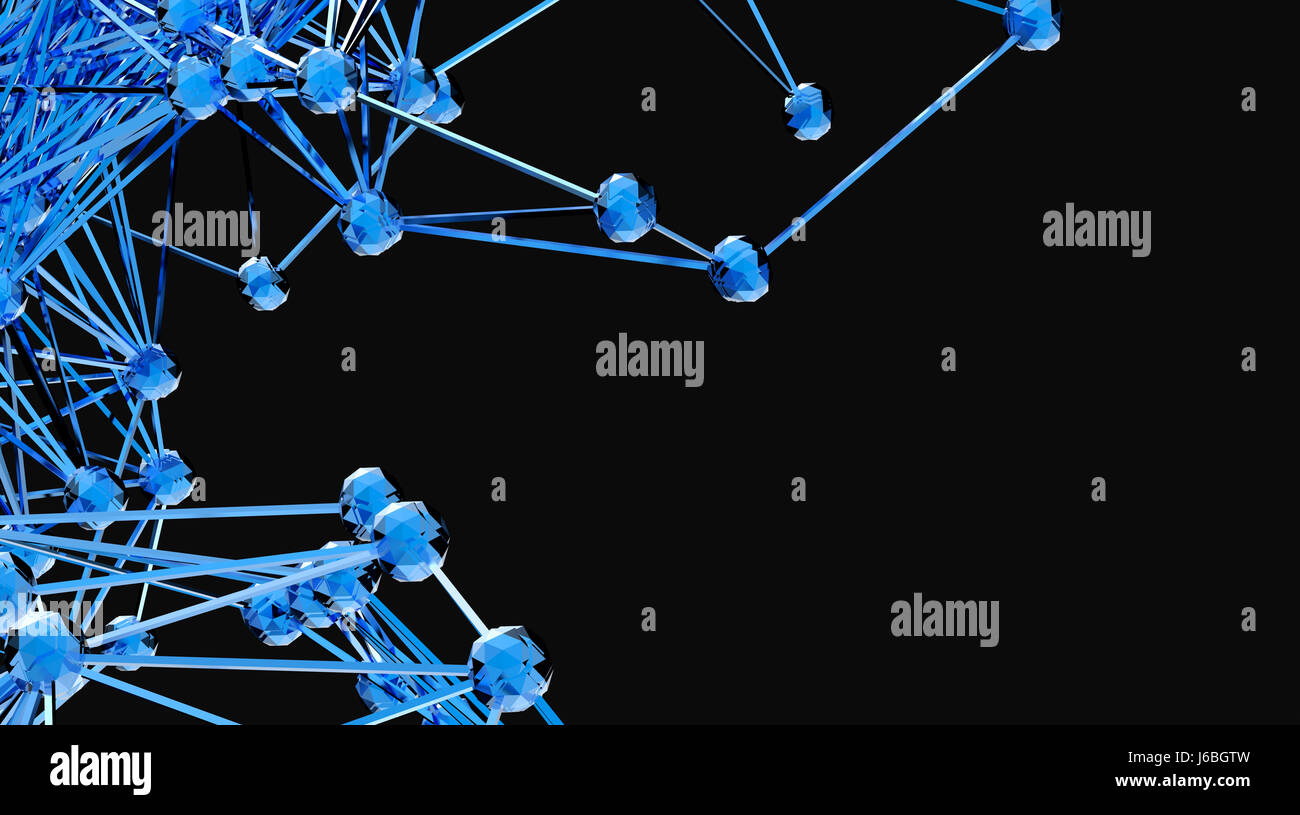 Blockchain network , Machine learning , deep learning and neural networks concept. Stylish abstract engineering, - Stock Image