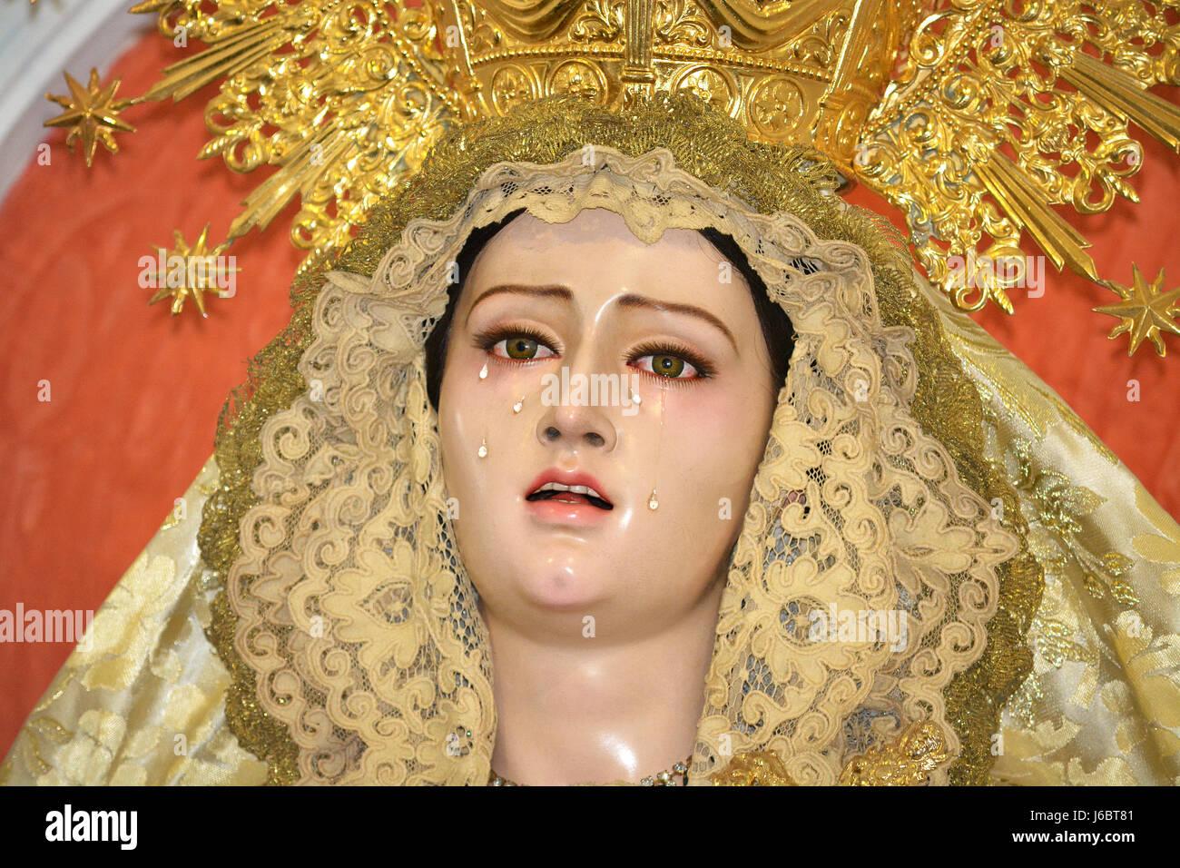 A Spanish Mater Dolorosa - Stock Image