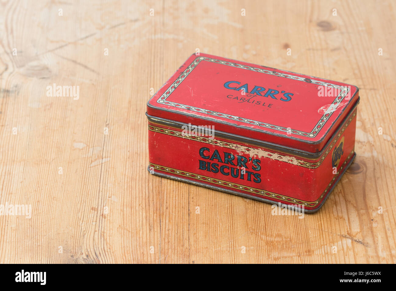 Carr's biscuits vintage biscuit tin - Stock Image
