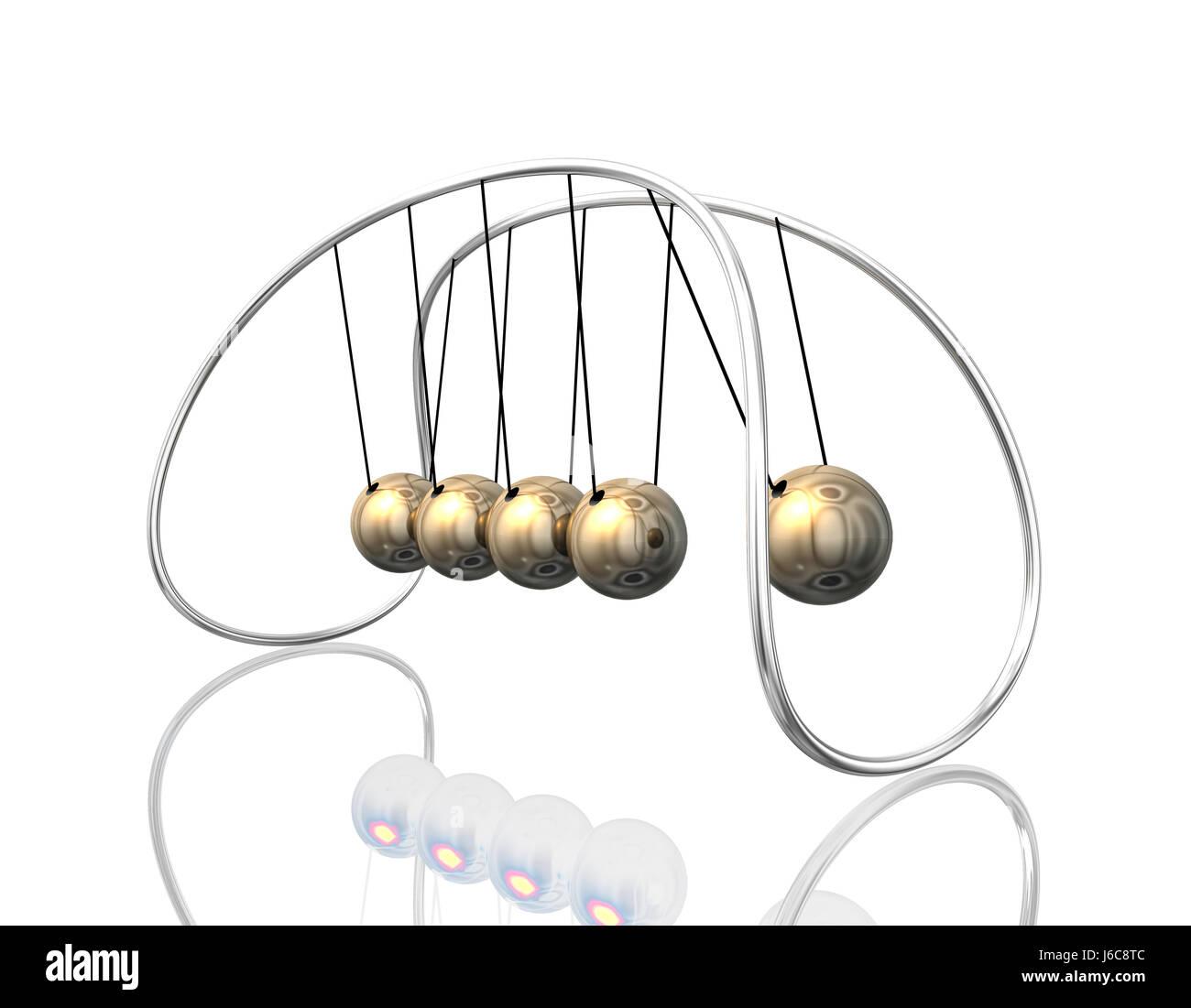 science pendant bright shiny pendulum gravity physics newton silver