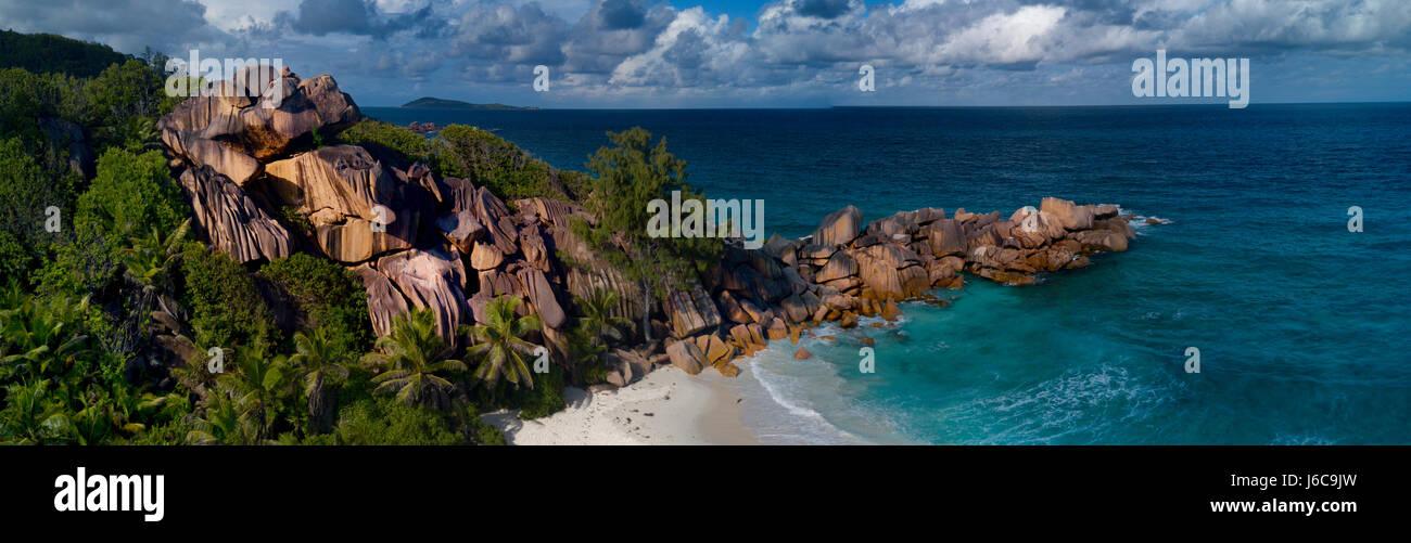 Grand Anse Beach, La Digue, Seychelles - Stock Image