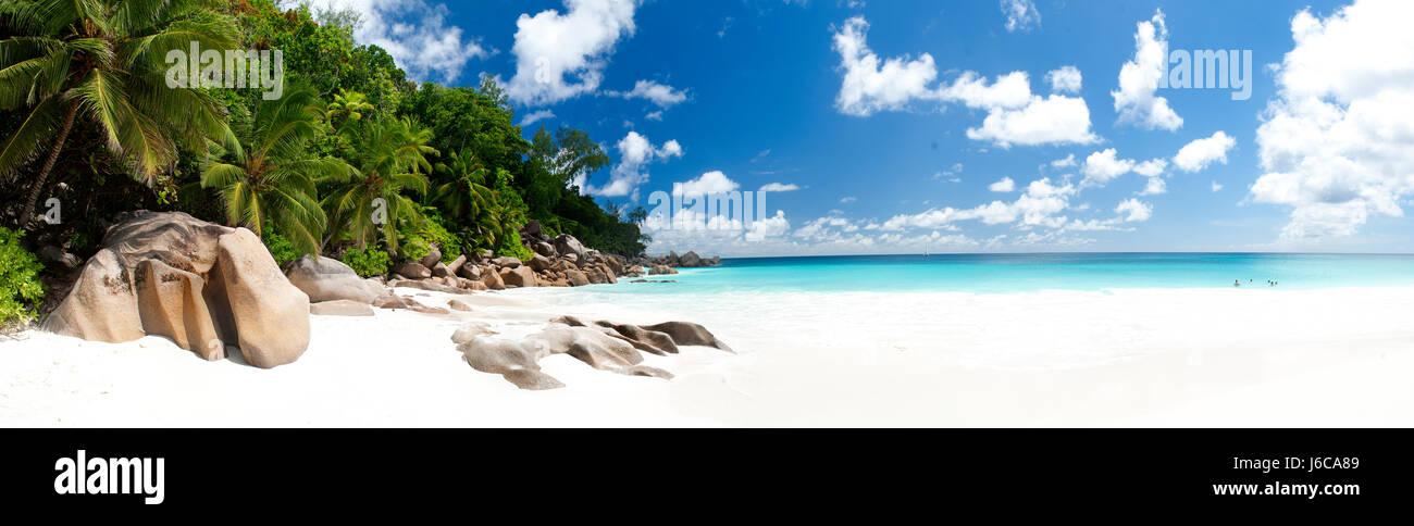 White sand beach, Seychelles - Stock Image