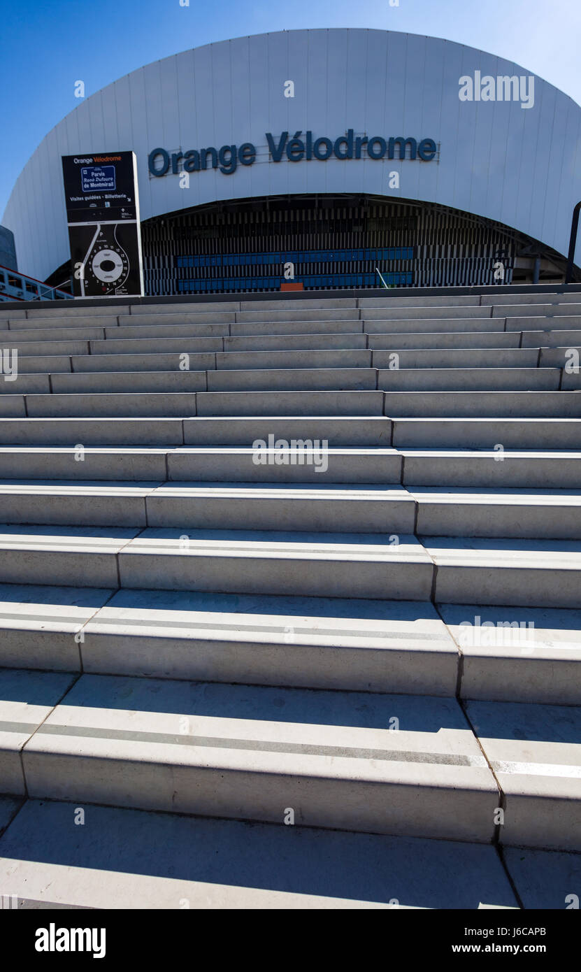 Orange vélodrome - Stock Image