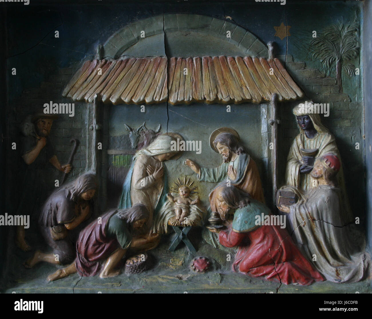 baby jesus manger church stock photos baby jesus manger church