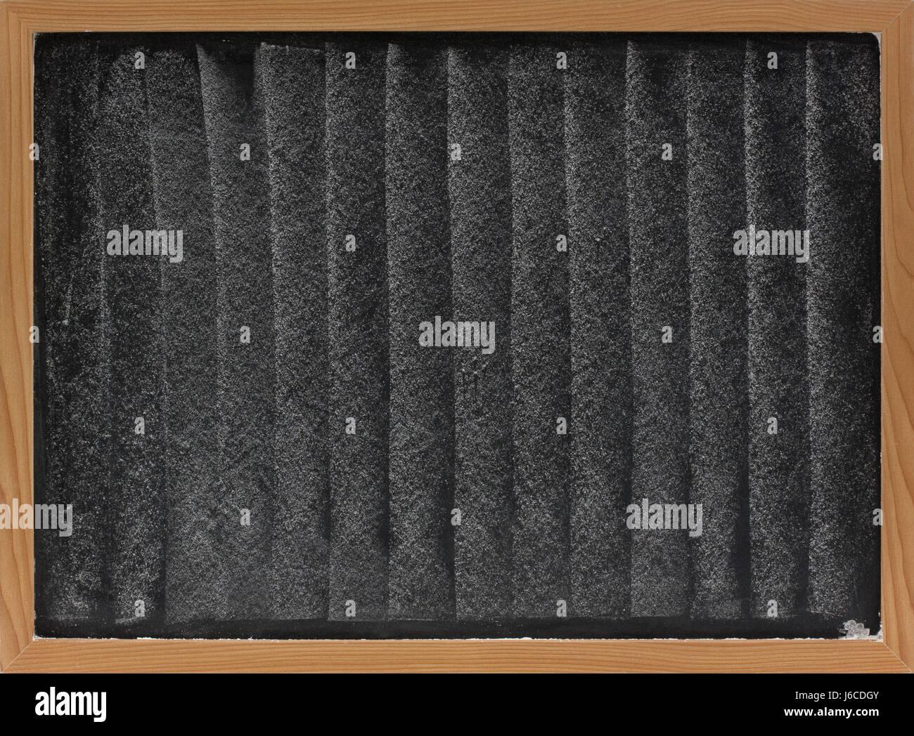 blackboard chalk pattern board smudge white texture drawing wood blackboard - Stock Image