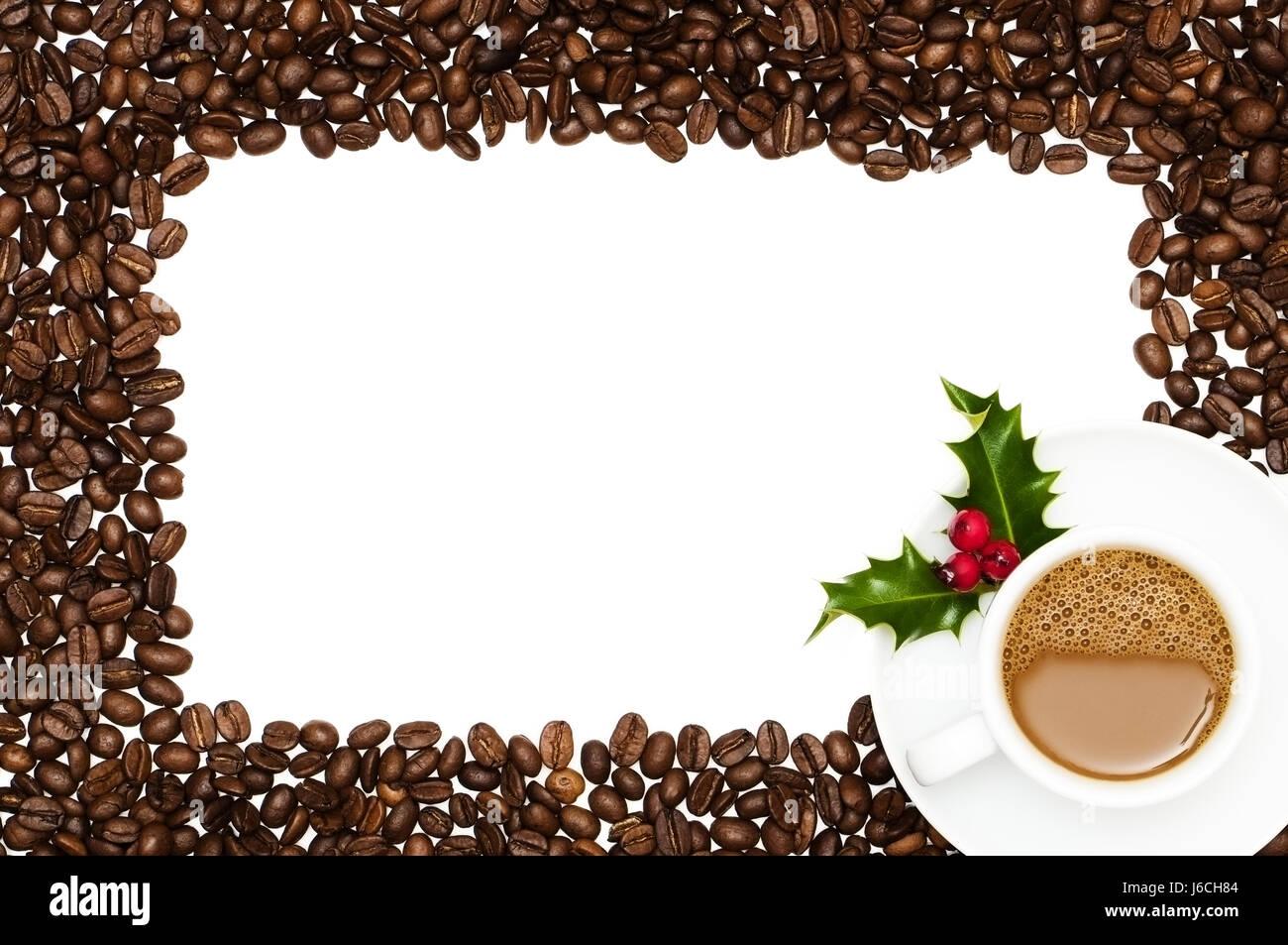 festive christmas frame coffee framework xmas x-mas border cafe cup ...