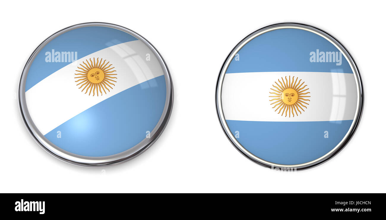 Round about argentina flag button banner pin sticker stickers travel isolated