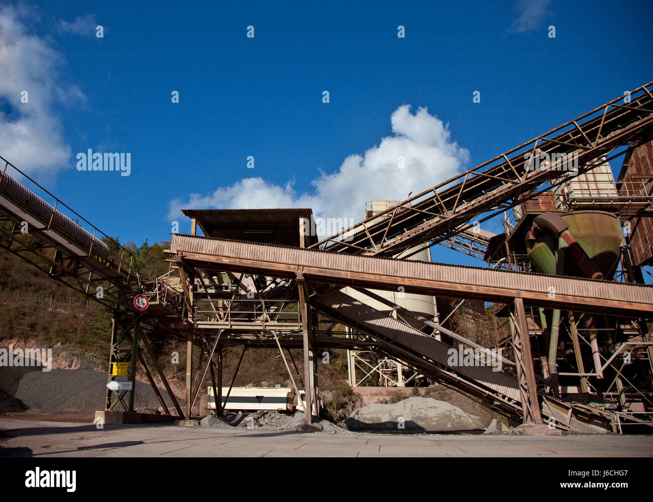 industrial buildings in a quarry - Stock Image
