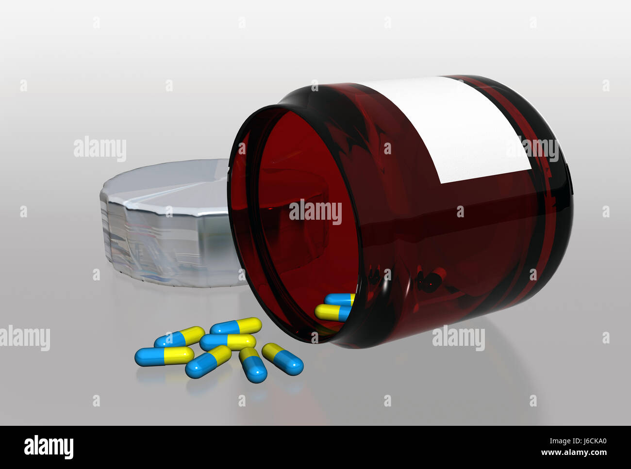 health medicinally medical bottle material drug anaesthetic addictive drug - Stock Image