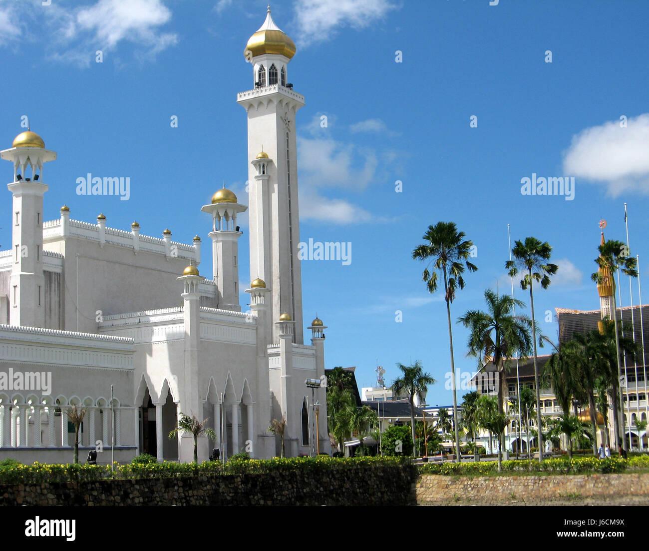 religion asia borneo mosque sultanate brunei blue tourism