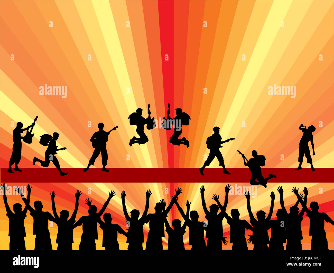 concert music singer rock band backdrop background disco entertainment music - Stock Image