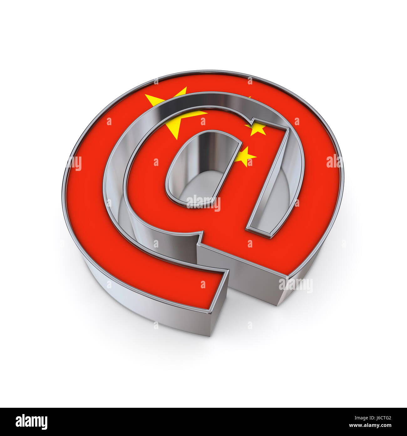 Metal Flag China Banner Sign At Pictogram Symbol Pictograph Trade