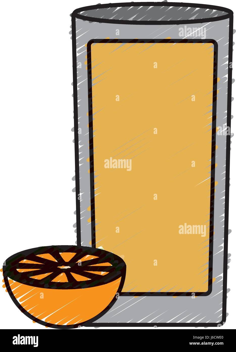 orange juice icon Stock Vector