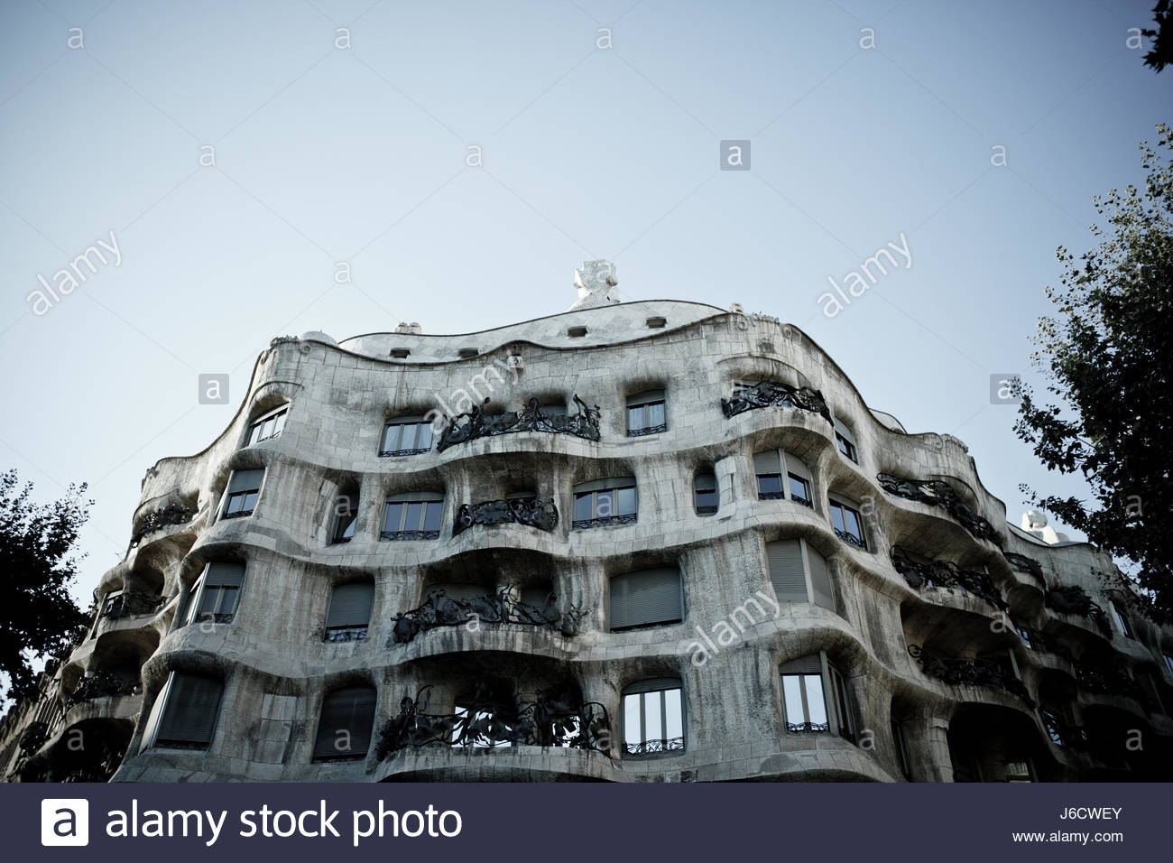 Gaudi designed La Pedera / Casa Mila, BArcelona - Stock Image