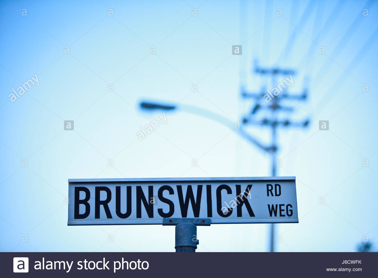 Street sign in Cape Town, South Africa - Stock Image
