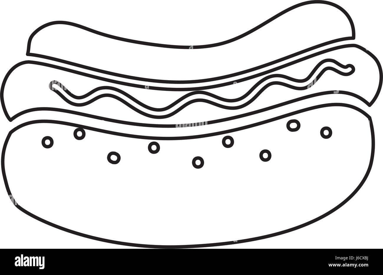Hot dog fast food - Stock Image
