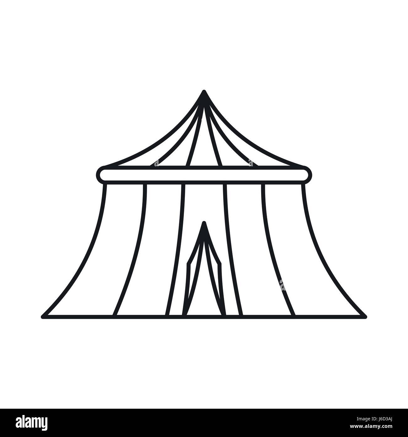 Circus tent icon, outline style - Stock Image