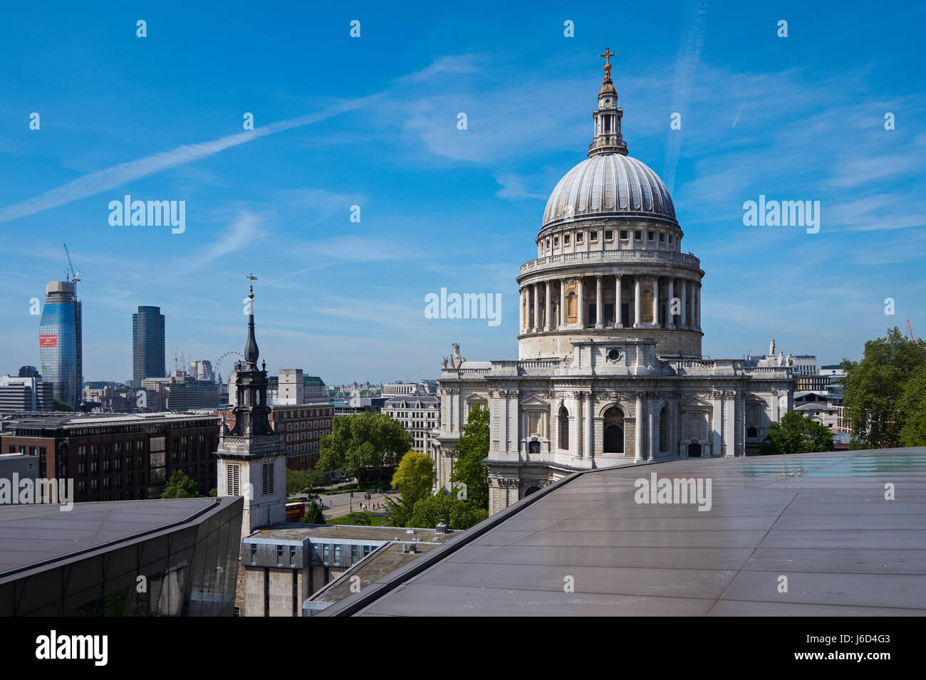 St. Paul's Cathedral seen from One New Change in London England United Kingdom UK - Stock Image