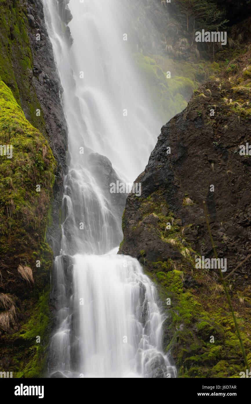 Starvation Creek Falls, Starvation Creek State Park, Columbia River Gorge National Scenic Area, Oregon - Stock Image