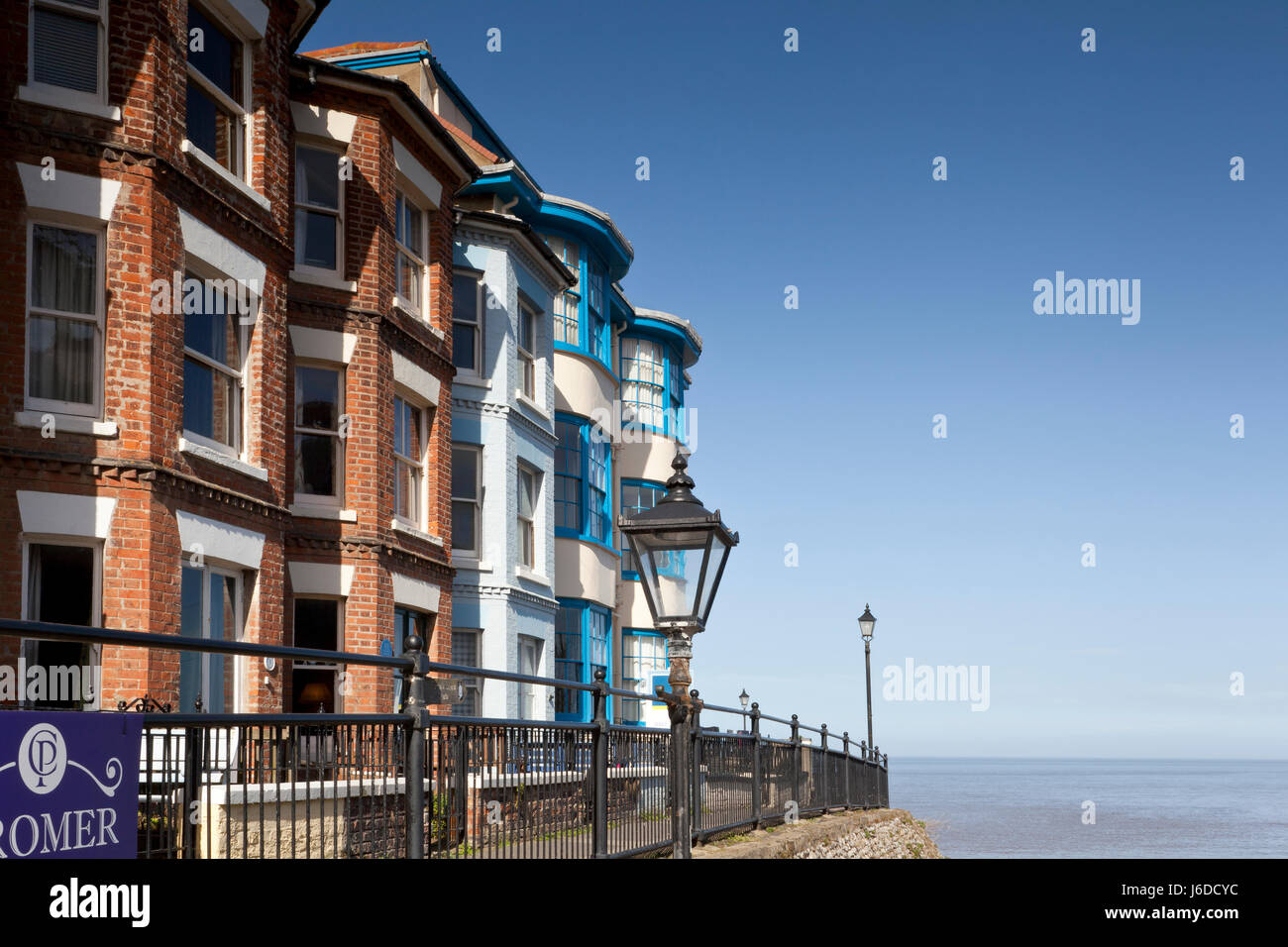 Victorian terraced houses at Cromer, Norfolk, UK - Stock Image