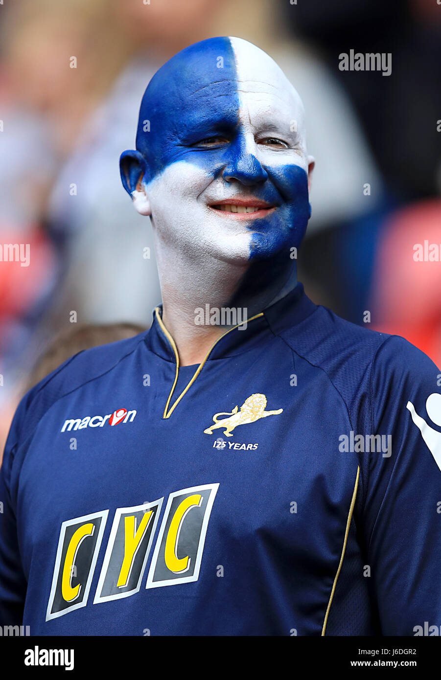 Image result for millwall fans face painted