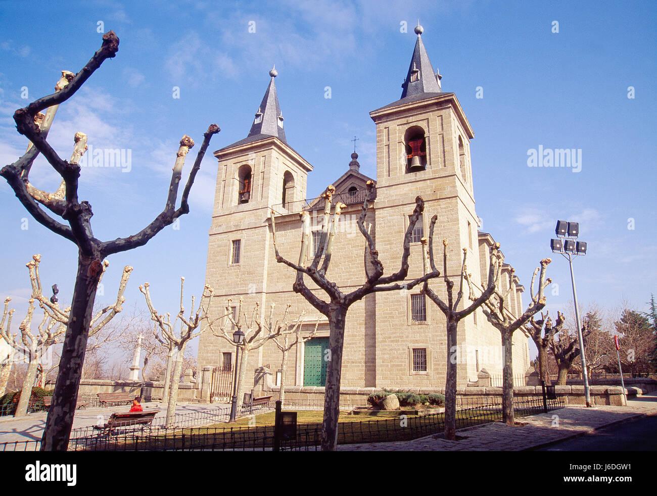 San Bernabe church. El Escorial, Madrid province, Spain. - Stock Image