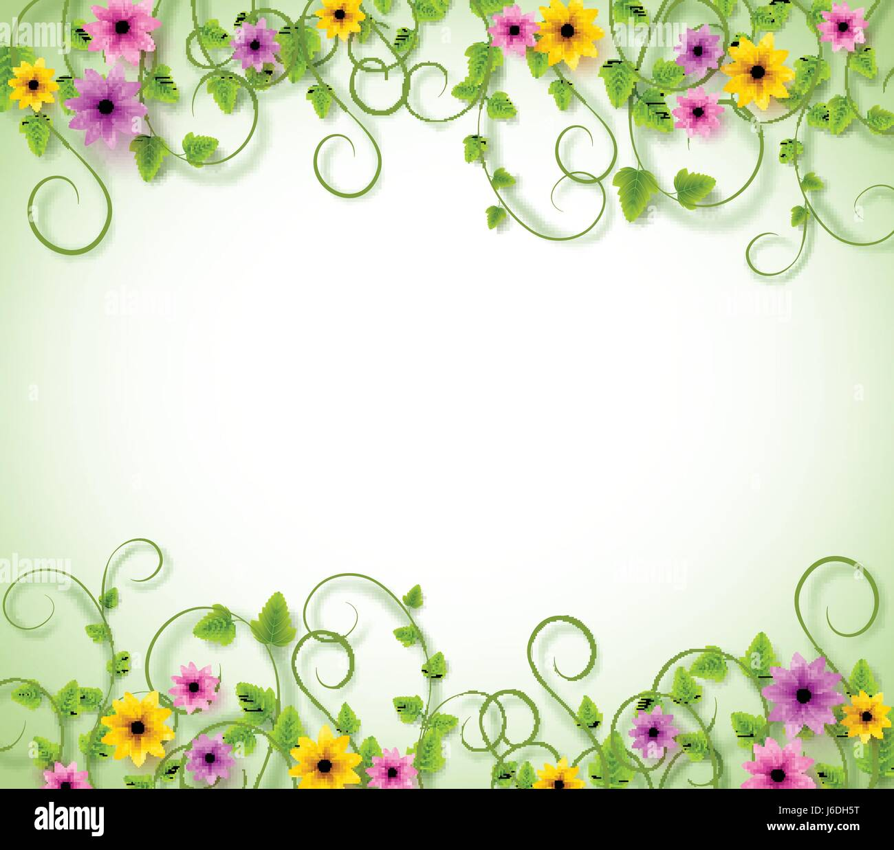 Vines Vector Background for Spring Season with Realistic