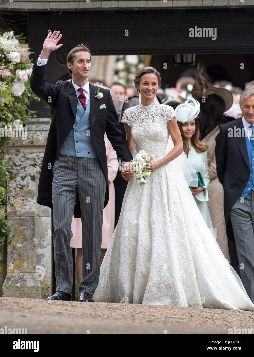 Pippa Middleton And Her Husband James Matthews Leave St Mark S Church Stock Photo Alamy